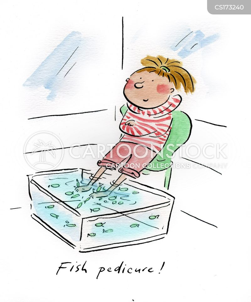 spa treatment cartoons and
