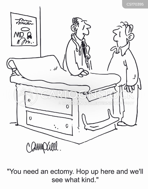 Cartoons und Karikaturen mit Chirurgie