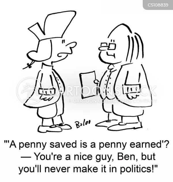 Pennies Cartoons and Comics funny pictures from CartoonStock