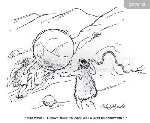 Cartoons und Karikaturen mit Peitsche