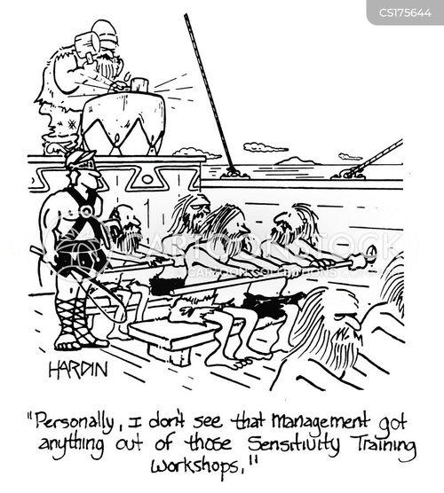 Cartoons und Karikaturen mit Reihe
