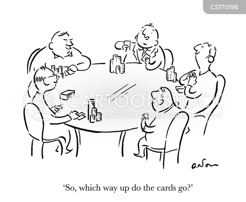 Cartoons und Karikaturen mit Karten