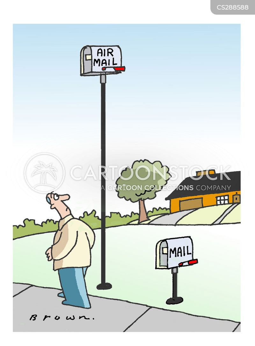 airmail box cartoons and