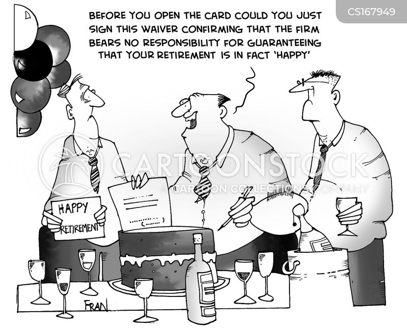 happy retirement cartoons and