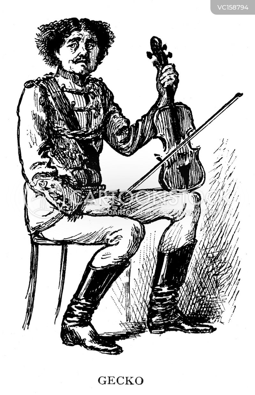 Violin Vintage and Historic Cartoons