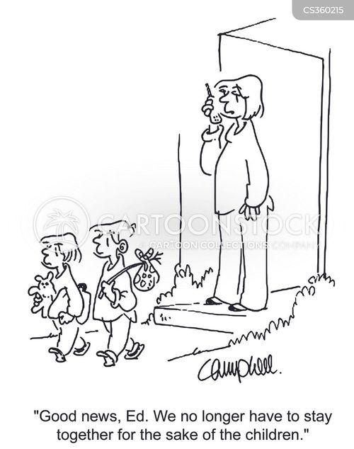 Cartoons und Karikaturen mit Ausziehen