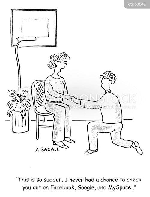 Cartoons und Karikaturen mit Verlobung