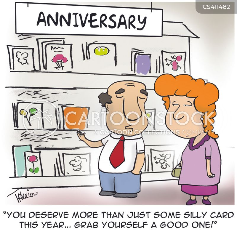 Anniversary Card Cartoons and Comics  funny pictures from CartoonStock