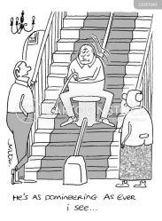 stair lift lifts cartoon funny cartoonstock