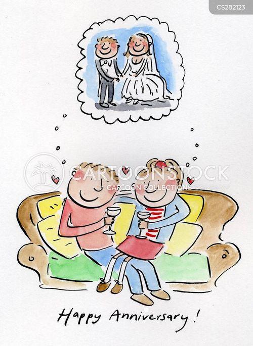 happy anniversary cartoons and