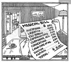 Medical Cost Cartoons and Comics - funny pictures from CartoonStock