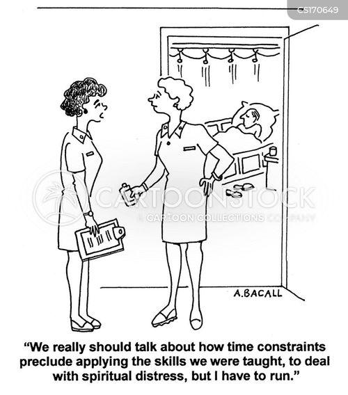 Cartoons und Karikaturen mit Krankenpflege