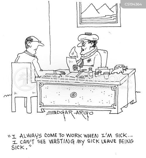 Cartoons und Karikaturen mit Blaumachen