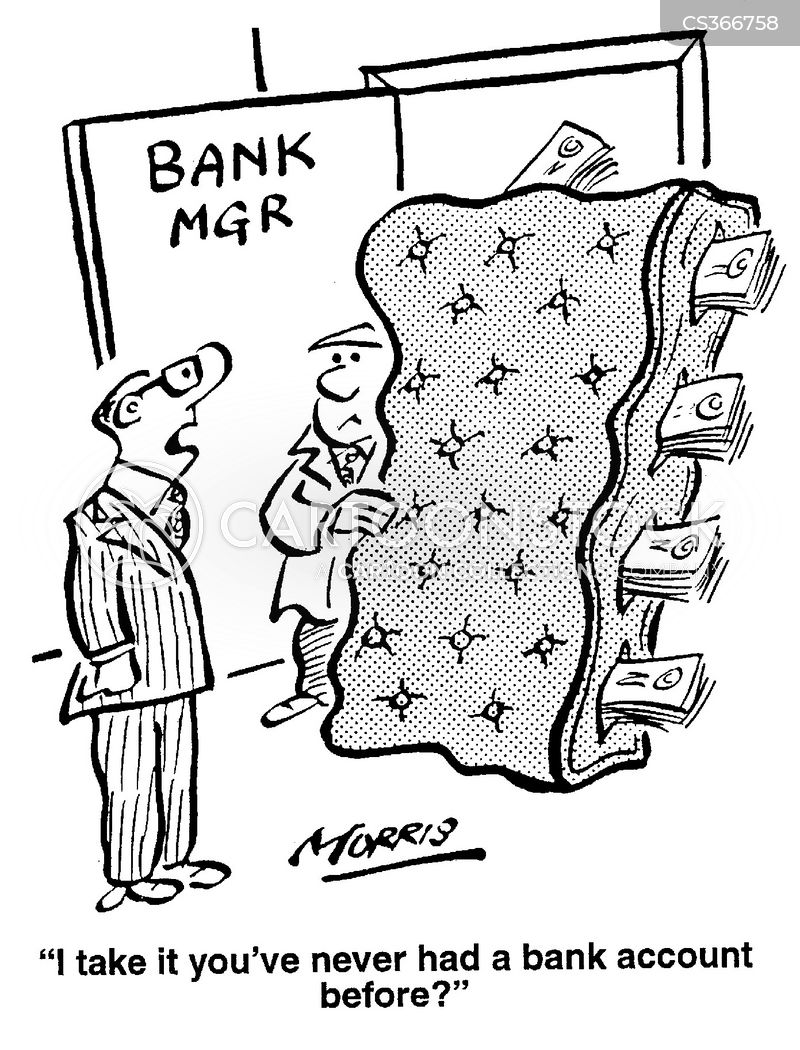 Opening A Bank Account Cartoons And Comics Funny Pictures From Cartoonstock