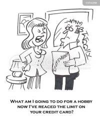 shopping spree cartoon cartoons funny dislike cartoonstock comics banking credit money