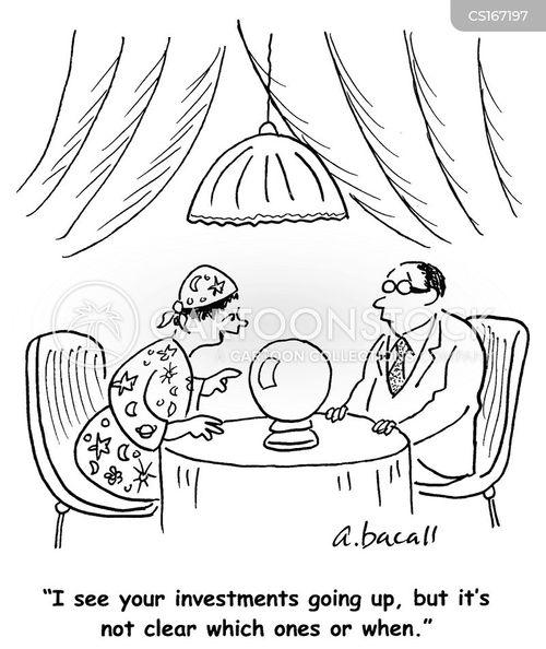 Cartoons und Karikaturen mit Vorhersage