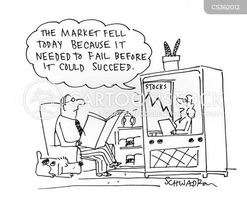 stock market graphs cartoons