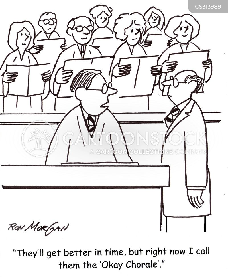 Choir Singer Cartoons And Comics Funny Pictures From