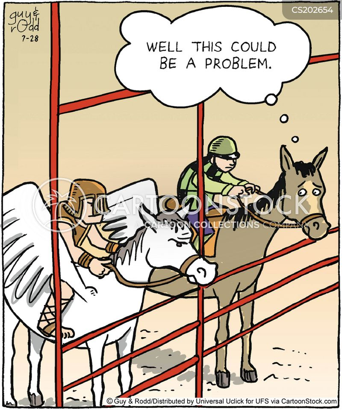 Funny Horse Clip Racing Art