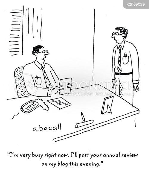 Cartoons und Karikaturen mit Beschäftigung