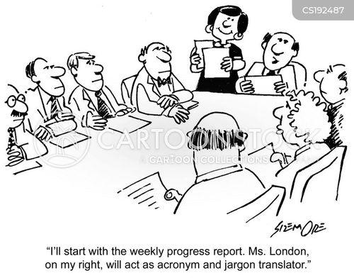 Cartoons und Karikaturen mit Fachsprache