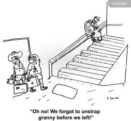 stannah stairlift cartoon cartoons funny cartoonstock age comics dislike