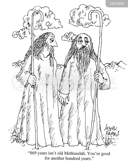 Cartoons und Karikaturen mit Methusalem