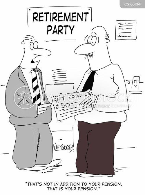 retirement cartoons and comics