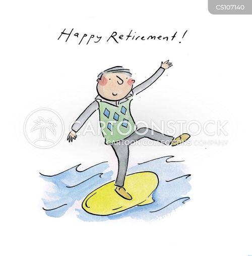happy retirement cartoons and