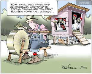 Town Hall Meetings usa Cartoons and Comics funny pictures from CartoonStock