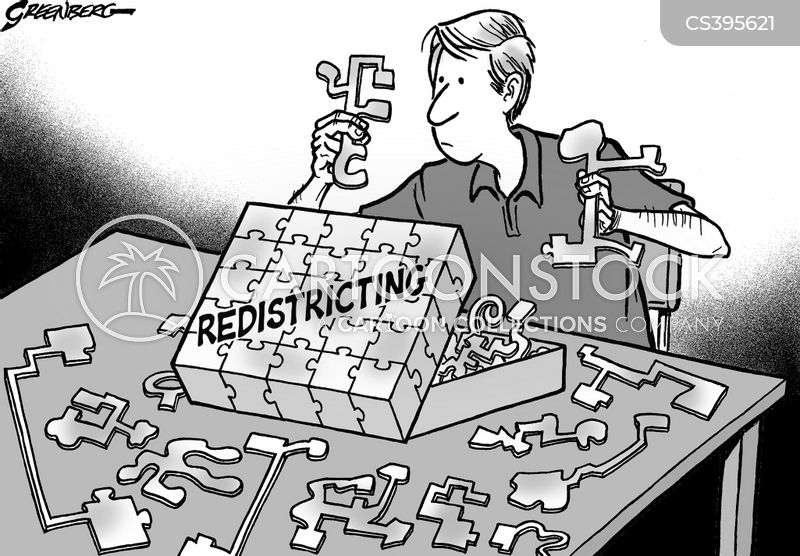 Redistricting Cartoons and Comics  funny pictures from