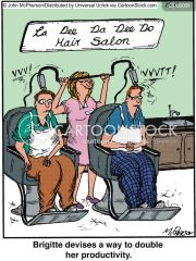 hairdresser cartoons and comics