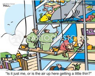 window washers washer cartoon funny cartoons windows safety workplace deprivation cartoonstock comics oxygen