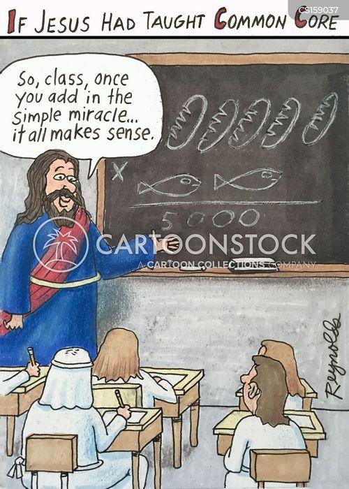 Feeding Of Five Thousand Cartoons And Comics - Funny