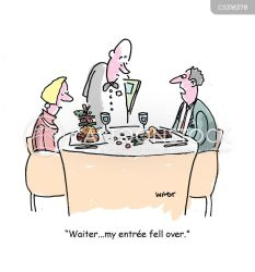 restaurant fancy cartoon cartoons funny comics restaurants dinner entree starter illustration cartoonstock low dislike