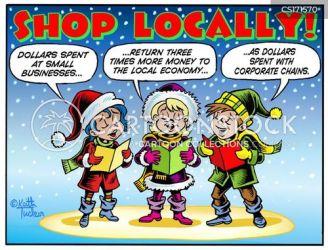 shopping christmas local cartoons cartoon friday funny retail signs comics cartoonstock meme shopper