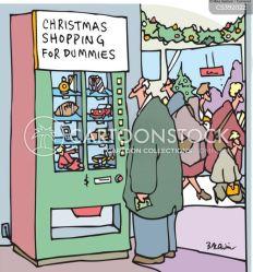 shopping holiday minute last holidays cartoons commercial funny cartoon christmas comics shoppers retail cartoonstock dislike vending machines directory