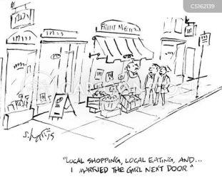 door cartoon cartoons funny local shopping boy cartoonstock sweetheart childhood comics dislike