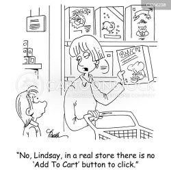 shopping funny cartoon cartoons comics security quotes technology humor mobile grocery cartoonstock dislike shopper shoppers