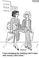 shopping addiction addictions cartoon cartoons funny shopaholic retail comics addicts cartoonstock illustration dislike
