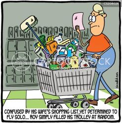 shopping funny cartoon cartoons cart cartoonstock grocery trip solo shoppers go comic lists let retail lets dislike carts fly