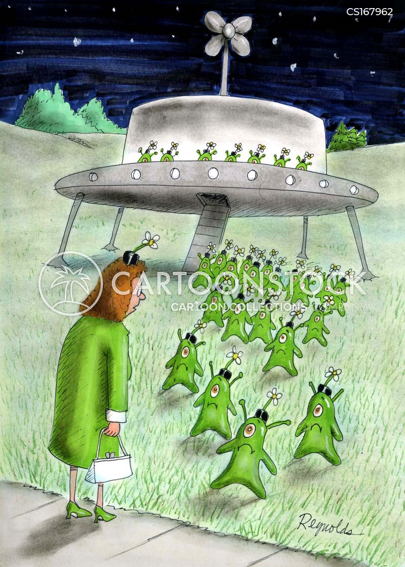 Ufo Cartoons and Comics  funny pictures from CartoonStock