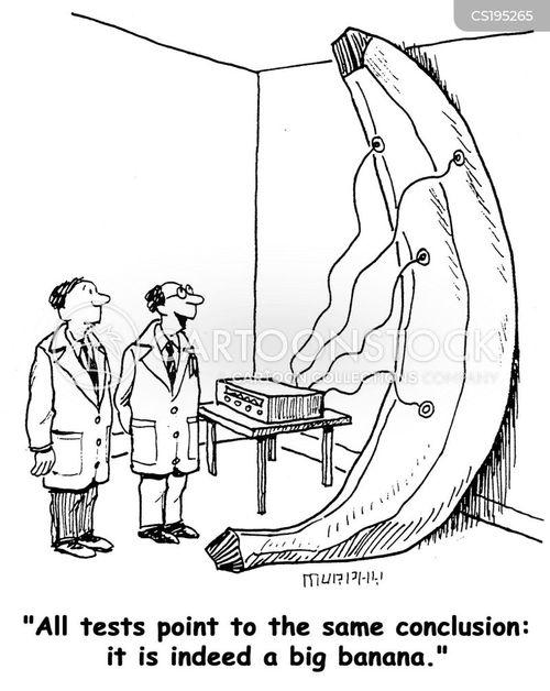 Cartoons und Karikaturen mit Banane