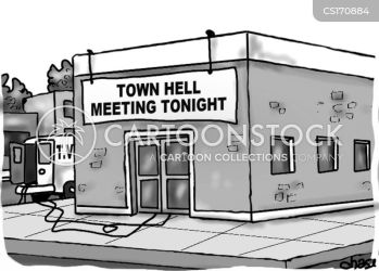 Town Halls Cartoons and Comics funny pictures from CartoonStock