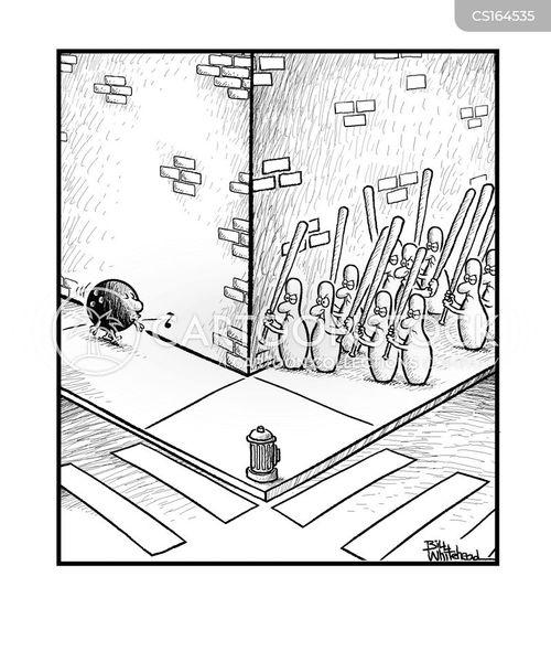 Bowling Cartoon Images : bowling, cartoon, images, Bowling, Cartoons, Comics, Funny, Pictures, CartoonStock