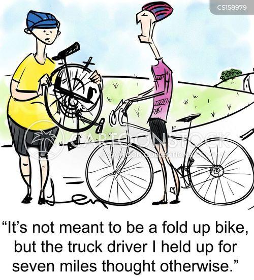 folding bicycle cartoons and