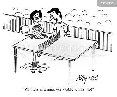 Table Tennis Game Cartoon 1 Of