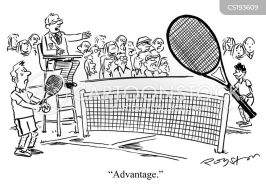 Playing Tennis Cartoons and Comics - funny pictures from CartoonStock