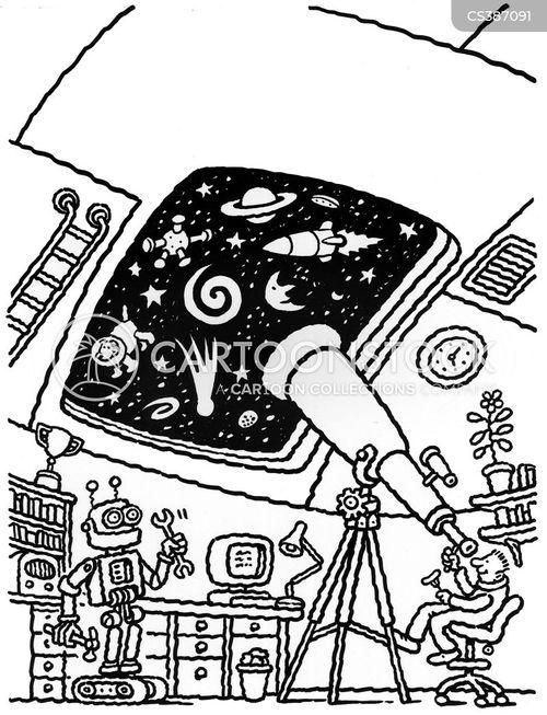 Cartoon Telescope Stock Photo