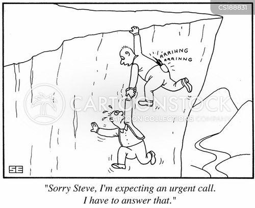 Cartoons und Karikaturen mit Fallen Lassen